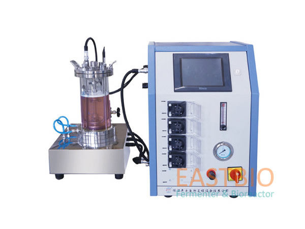 Autoclavable Magnetic Stirred Laboratory Bioreactor 4 Peristaltic Pumps Benchtop